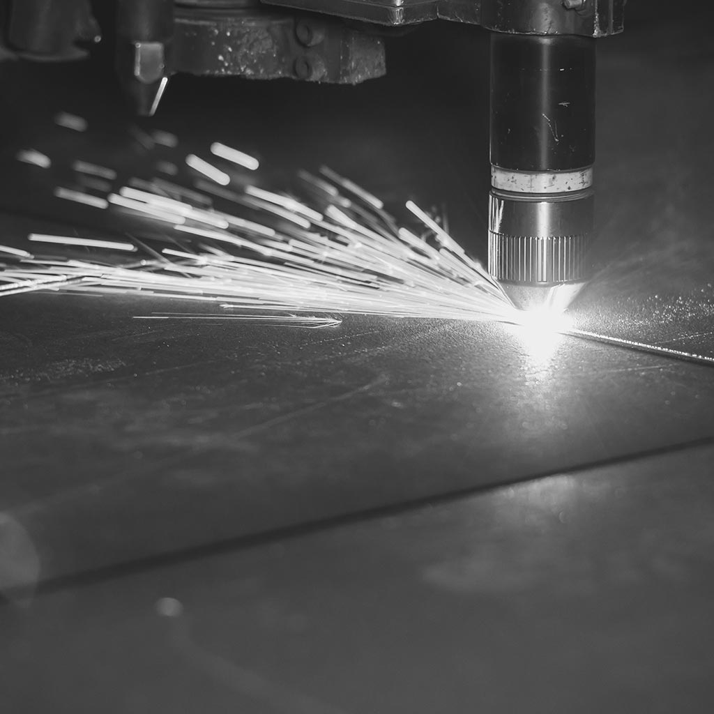 Laser cutting of steel and plastics
